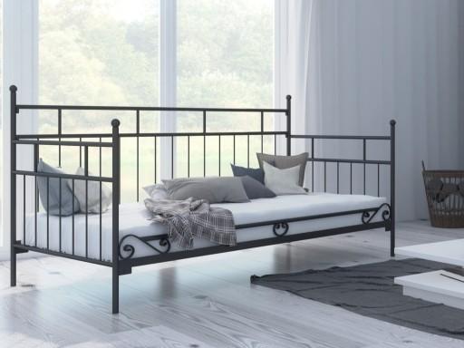łóżka Metalowe Lak System 80x180 Wzór 10 Stelaż