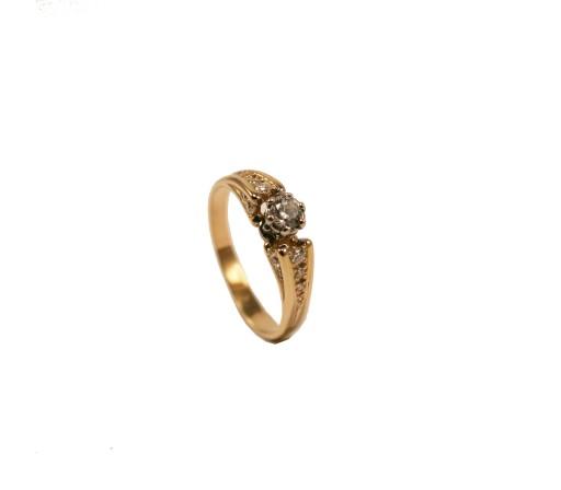 Pierścionek Zaręczynowy Z Brylantem 048 Ct 50 7298045494 Allegropl