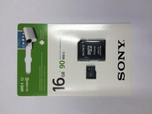 Karta Micro Sd 16gb Sony Sr 16uy3 90mb S Adapter 6383343343