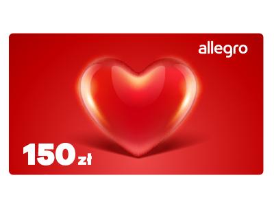 Karta Podarunkowa Walentynki - Serce - 150 zł