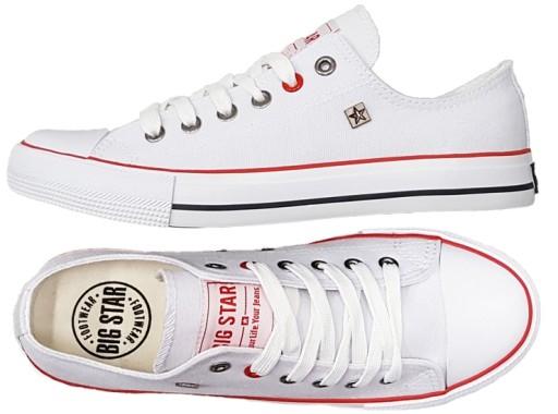 Trampki BIG STAR męskie buty białe T174102 41