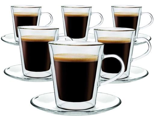 Szklanki Izolowane Kawa Herbata Z Uchem 6 Sztuk 6874971269 Allegropl