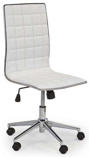 Skandynawski Fotel Obrotowy Biurowy Biurko Biały