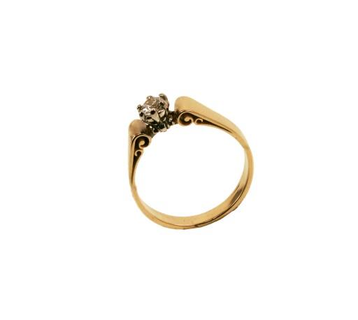 Pierścionek Zaręczynowy Z Brylantem 025 Ct 50 7139312527 Allegropl