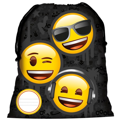 25e8b5e41d178 Derform Worek na obuwie Emoji Emotki Emotikony 7476395144 - Allegro.pl