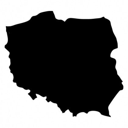 Tablica kredowa magnetyczna Polska mapa Polski 70*
