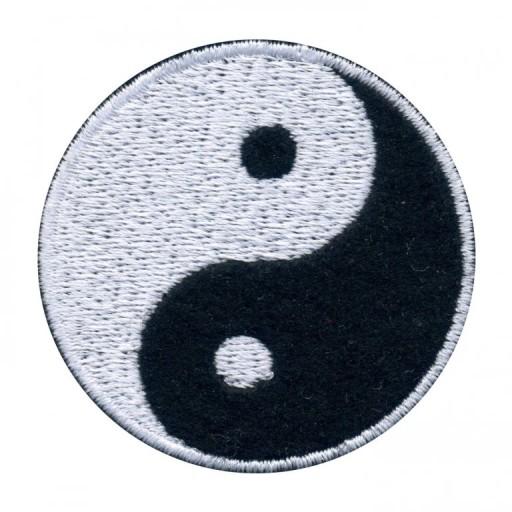 Naszywka haftowana YIN i YANG - symbol równowagi