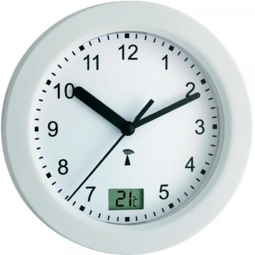 Zegar Do łazienki Sterowany Radiowo Dcf Biały Tfa