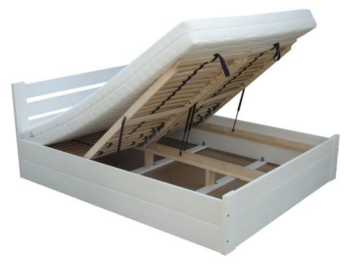 Euforia 140x200 łóżko Z Pojemnikiem Lite Drewno