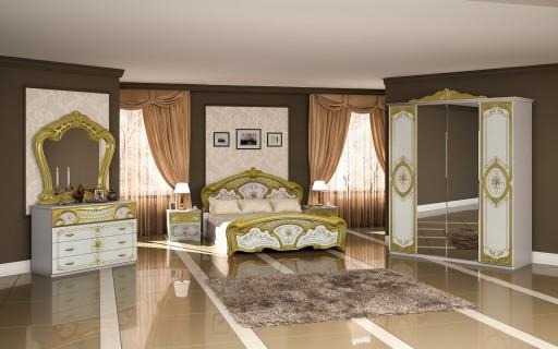 Sypialnia Rosa Biała łóżko Szafa Sypialniane