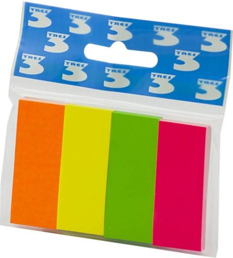 Karteczki Indeksujace Tres 20x50 Mm 4 Kolory Index 6736407920 Allegro Pl