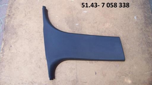 BMW 3 E90 osłona tapicerka plastik słupka prawa 8360390907