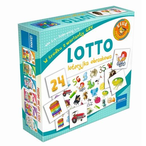 GRANNA Gra Lotto Loteryjka Obrazkowa EDUKACYJNA