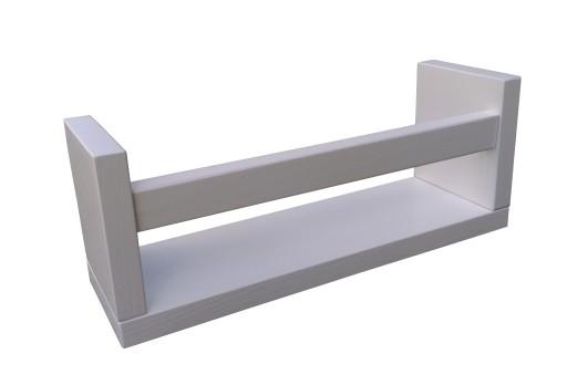 Półka Mini Drewniana Kuchenna Na Przyprawy Biała