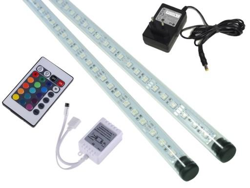 2x70cm świetlówka Led Rgb Oświetlenie Akwarium