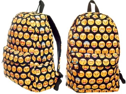 Plecak Szkolny do szkoły Emotki Emotikony Emoji BL