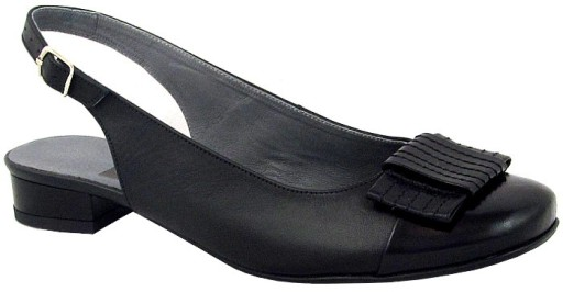 cf9cb8ea Czółenka Jezioro 046 skóra czarne r. 42 7289635215 - Allegro.pl