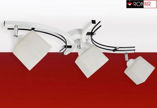 Lampa sufitowa plafon żyrandol 3xE27 klosz szklany