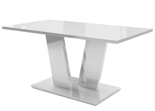 Stół Stoły Biały Czarny Wysoki Połysk 160 Promocja