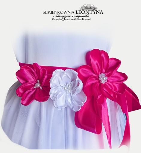 PIĘKNA POLSKA SUKNIA. Sukienka tiul CLEO 146/152a*