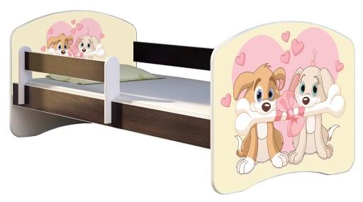 Łóżko dziecięce 140X70 + materac WENGE ACMA