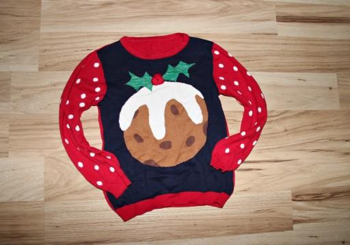 Śliczny świąteczny sweterek CIACHO 104-110