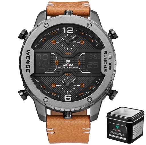 Topnotch DUŻY MARKOWY Zegarek męski WEiDE Skóra 3 STREFY GW 6978092811 BD65