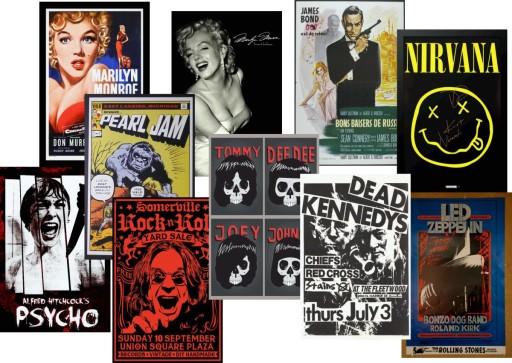 Plakat Vintage Stare Plakaty 150x100 Dużo Wzorów