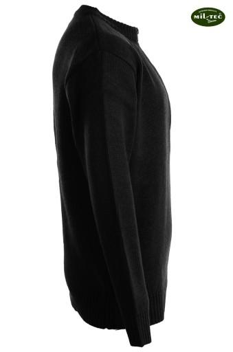 Wojskowy Ciepły SWETER SZWAJCARSKI - Czarny - XL 5966271835 Odzież Męska Swetry YM DFLEYM-6