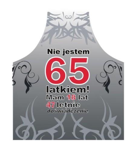 11a0c8bef8812c fartuszek prezent na 65 urodziny dla mężczyzny 7551756297 - Allegro.pl