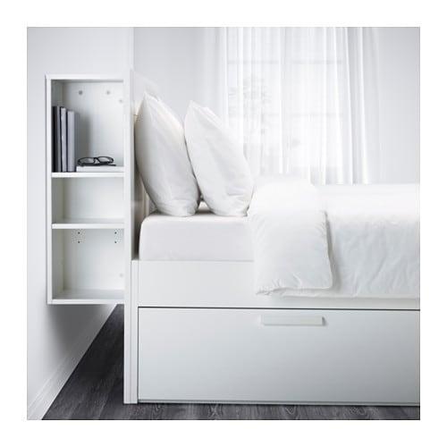 Ikea Rama łóżka Z Pojemnikiem Brimnes 160x200cm