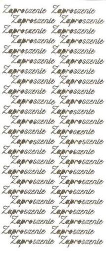 Stickersy Naklejki Naklejka Napis Zaproszenie 6973672523 Allegropl