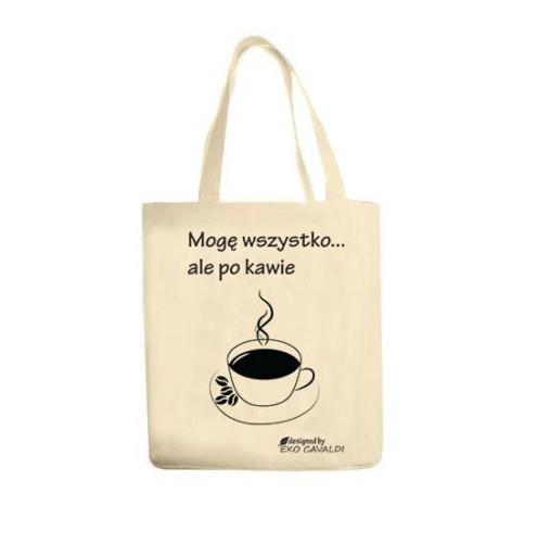 133423ec4a88a EKO BAG torba bawełniana eko NADRUK LENIWIEC 7488325182 - Allegro.pl