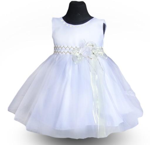 971b9958a5 PL Laura Sukienka tiul szyfon perły chrzest 56 c 7500001916 - Allegro.pl