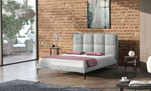 łóżko Tapicerowane Podwójne Ariana 140x200 7472863609 Allegropl