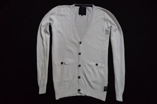 JACK JONES PREMIUM sweter sweterek biały logo__S/M 10526276716 Odzież Męska Swetry GO WGFAGO-9