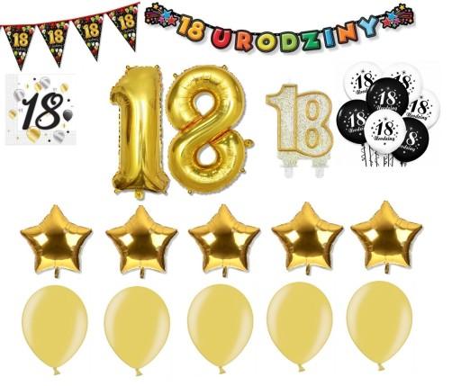 Duzy Zestaw Na Osiemnastke 18 Urodziny Dekoracje 7631347911 Allegro Pl