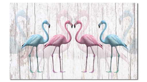 Obraz Flamingi 5 120x70cm Ptak Ptaki Flamingi 7398479343 Allegropl