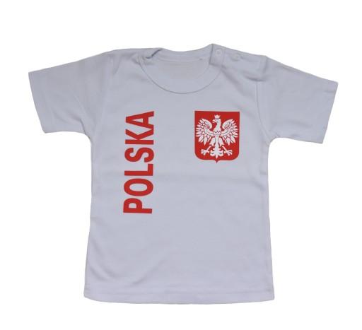 5cedb4f95937 T-shirt Koszulka KIBICA REPREZENTACJI POLSKI 92 7398153177 - Allegro.pl