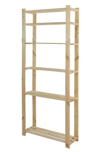 Regał Biurowy B 27 200x80x28 6 Półek Drewniany