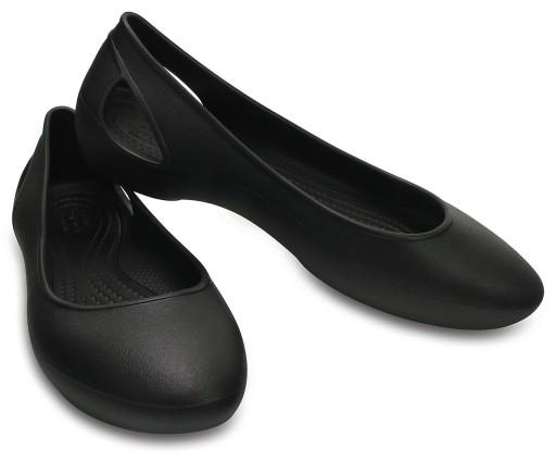 oficjalny dostawca Całkiem nowy super tanie Crocs baleriny Laura Flat Black W6 36-37