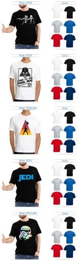 T-SHIRT STAR WARS GWIEZDNE WOJNY JEDI OKAZJA XXL 10699646192 Odzież Męska T-shirty GU KDTLGU-1