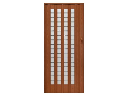 Drzwi Harmonijkowe Przesuwne 015 Z Szybkami 86 Cm 6660025427 Allegro Pl