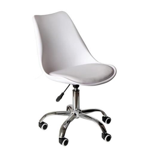 Krzesło Obrotowe Młodzieżowe Skandynawskiebiałe