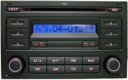 RADIJO GROTUVAS VW RCD200 MP3 T4 POLO SHARAN LUPO GOLF BORA