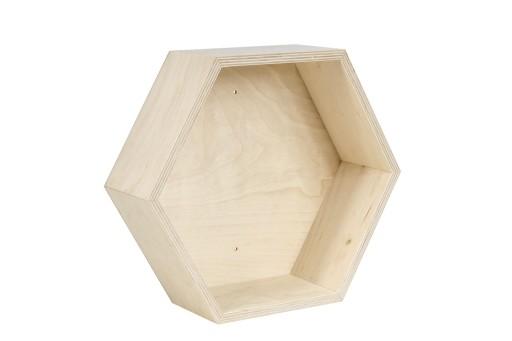 Drewniana Półka Typu Plaster Miodu Sześciokątna