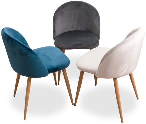 Krzesło Nowoczesne Tapicerowane Salon Jadalnia