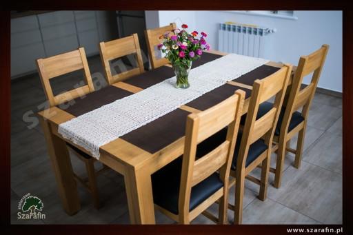 Dębowy stół rozkładany 160/85 dąb natura