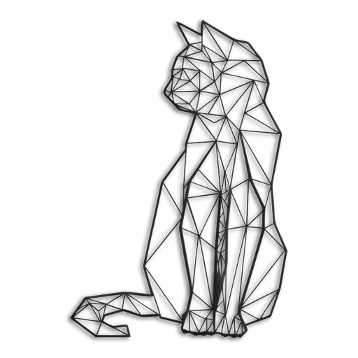Geometryczny Kot Cat 3d Hit 33x50cm Filc Kolory 7229222919