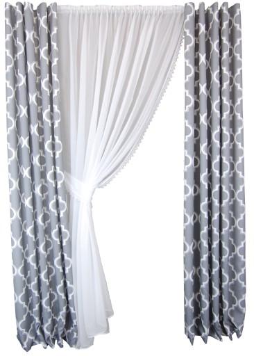 Firany Gotowe Salon Balkon Panel 200 X 240